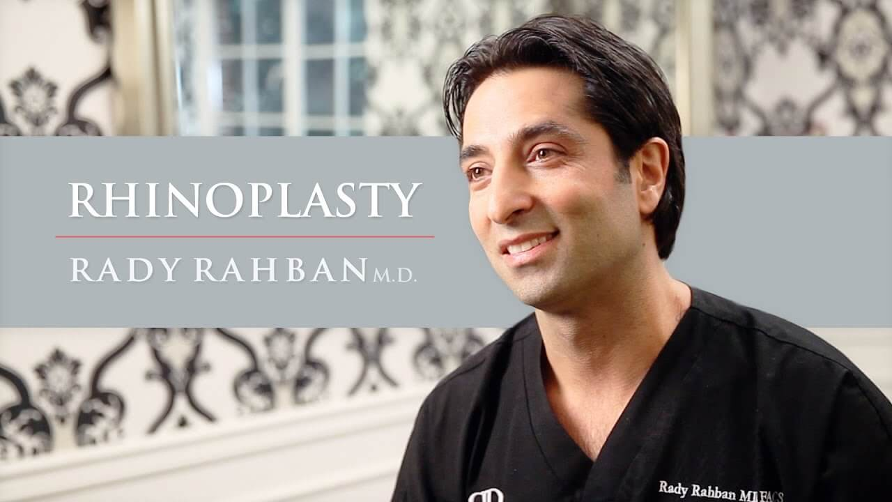 Video of Dr. Rahban talking about his approach to Rhinoplasty Surgery